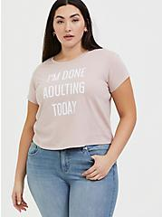 Done Adulting Mauve Pink Relaxed Fit Crop Tee, PALE MAUVE, hi-res