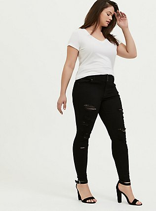Jegging - Premium Stretch Black, BLACK, alternate