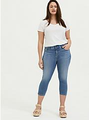 Crop Bombshell Skinny Jean – Premium Stretch Medium Wash, SANDS END, alternate