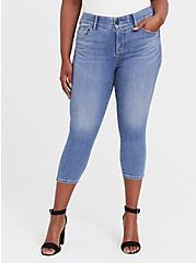Crop Bombshell Skinny Jean – Premium Stretch Medium Wash, , fitModel1-hires