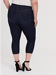 Plus Size Crop Sky High Skinny Jean – Premium Stretch Dark Wash, CANARY WHARF, alternate