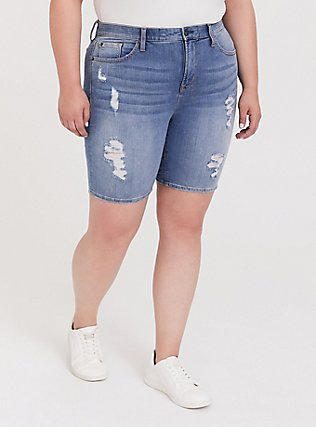 Sky High Skinny Bermuda Short - Premium Stretch Medium Wash, NOTTING HILL, hi-res