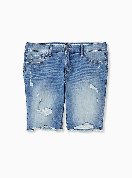 Low Rise Bermuda Short – Vintage Stretch Medium Wash, SARDEGNA, hi-res