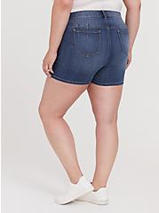 Bombshell Skinny Short Short - Premium Stretch Medium Wash, TIDES, alternate