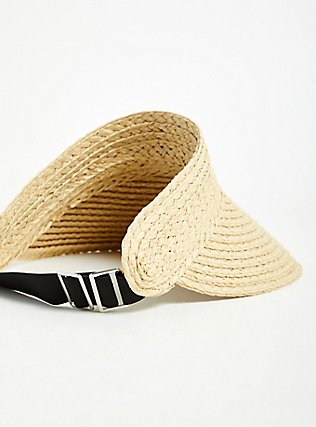 Tan Straw Visor, NATURAL, alternate