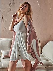 Plus Size Dusty Pink Tie Dye Ruana, , hi-res