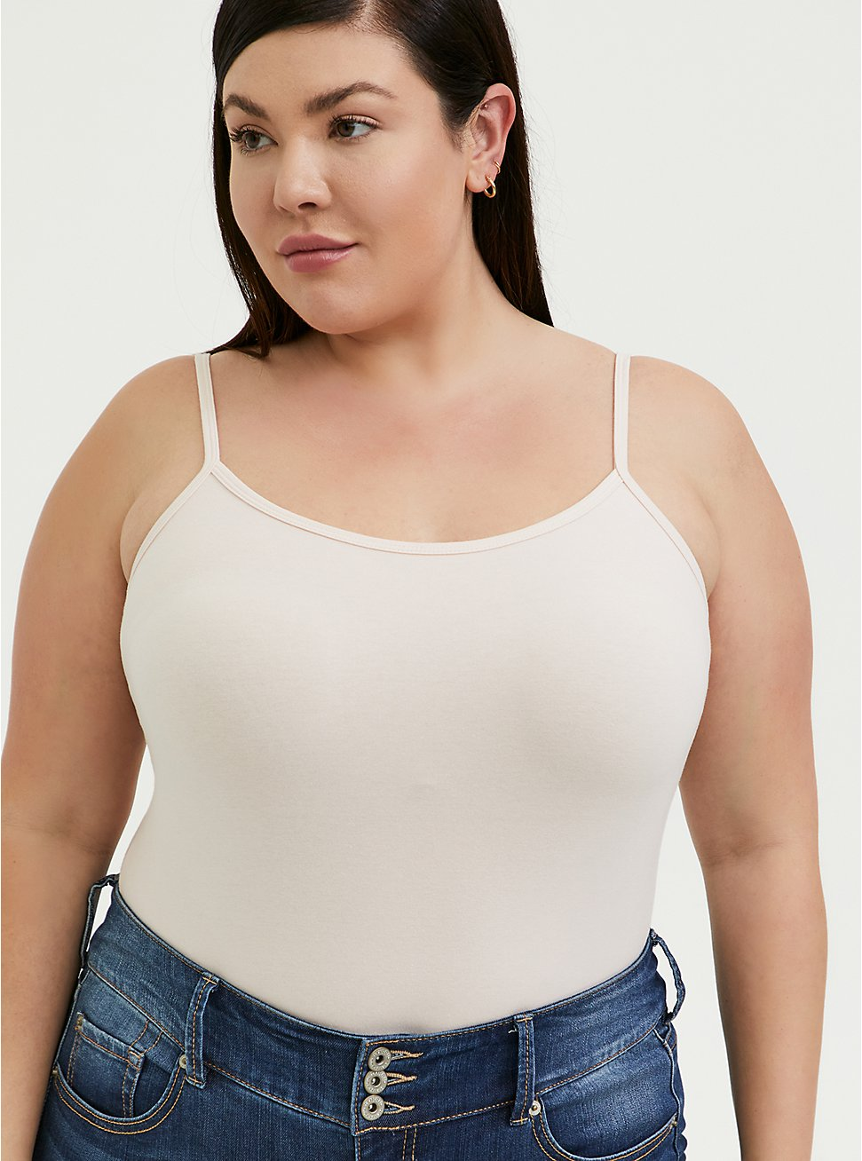 Plus Size Light Pink Scoop Neck Foxy Cami, PEACH BLUSH, hi-res