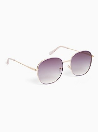 Purple Square-Oval Sunglasses, , alternate