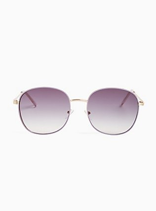 Purple Square-Oval Sunglasses, , hi-res