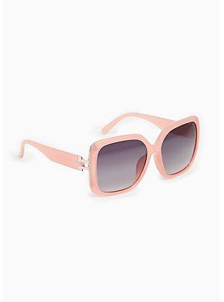 Pink Oversize Square Sunglasses, , alternate