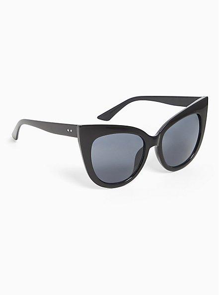 Black Cat Eye Sunglasses, , alternate