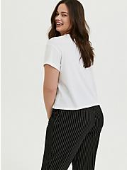 Plus Size Work Hard Relaxed Fit Crop Crew Tee - Triblend Jersey White, CLOUD DANCER, alternate
