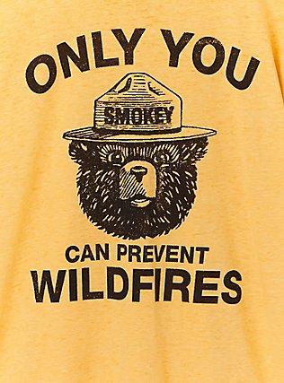 Smokey The Bear Yellow Ringer Tee, , alternate