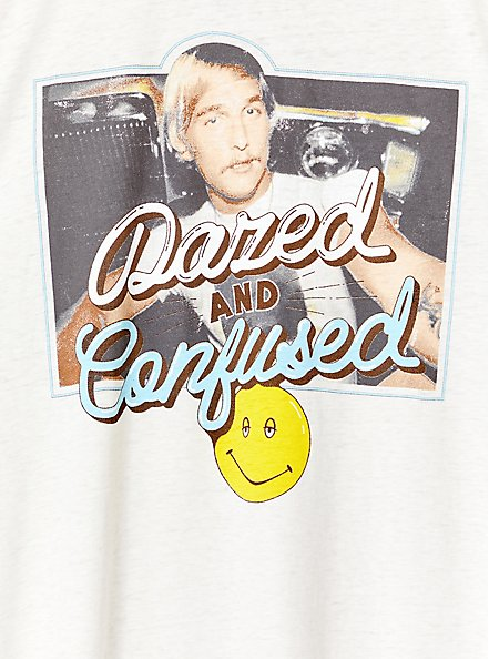 Plus Size Dazed and Confused White Ringer Tee, MEDIUM HEATHER GREY, alternate