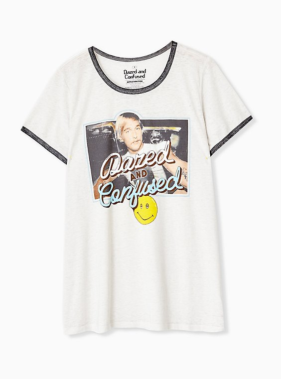 Dazed and Confused White Ringer Tee, , hi-res