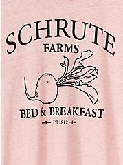 The Office Schrute Farms Mauve Pink Burnout Crew Tee, PALE MAUVE, alternate