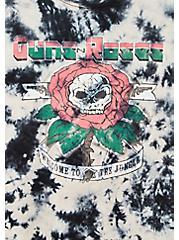 Guns & Roses Black Tie-Dye Crew Tee, DEEP BLACK, alternate