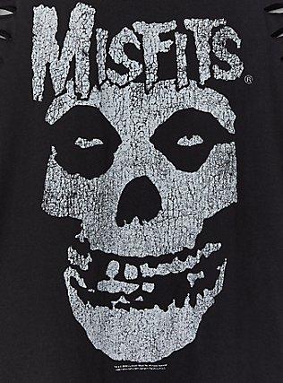 Misfits Black Slashed Muscle Tank, DEEP BLACK, alternate