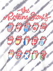 The Rolling Stones White & Black Tie-Dye Crew Tank, CLOUD DANCER, alternate