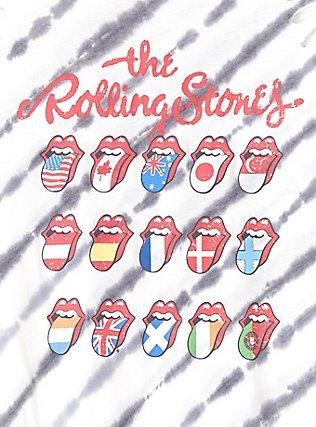 Plus Size The Rolling Stones White & Black Tie-Dye Crew Tank, CLOUD DANCER, alternate