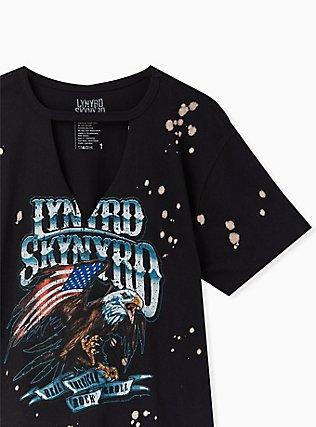 Lynyrd Skynyrd Black Bleach Splatter Choker Tee, DEEP BLACK, alternate