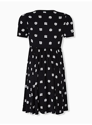 Plus Size Disney Animals The Aristocats Marie Challis Black Shirt Dress, BLACK, alternate