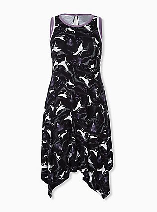Plus Size Disney Animals The Nightmare Before Christmas Zero Black Trapeze Dress, BLACK, hi-res