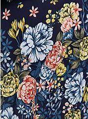 Navy Floral Crepe Kimono, FLORAL, alternate