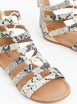 Snakeskin Print Faux Leather Gladiator Sandal (WW), ANIMAL, alternate