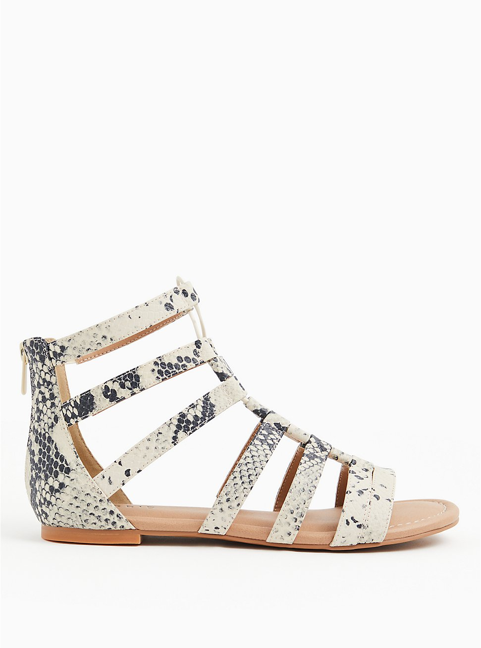 Snakeskin Print Faux Leather Gladiator Sandal (WW), ANIMAL, hi-res