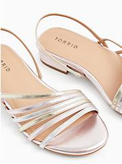 Rose Gold Faux Leather Slingback Low Heel (WW), GOLD, hi-res
