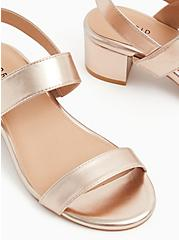 Rose Gold Faux Leather Ankle Strap Block Heel (WW), ROSE GOLD, alternate