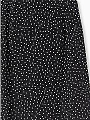 Drawstring Paperbag Waist Mid Short - Ponte Ditsy Dots White & Black , TEENSY DOT, alternate