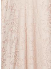 Light Pink Hacci Burnout Hi-Lo Kimono, ROSE, alternate