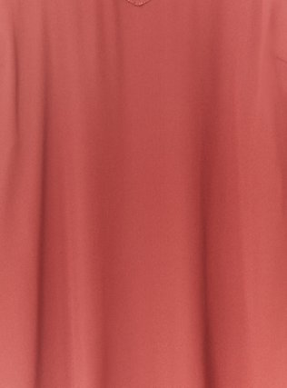 Brick Red Georgette Lace-Up Cold Shoulder Top, MADDER BROWN, alternate