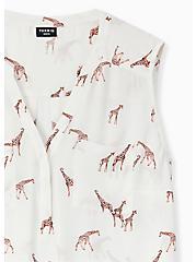 Harper - White Giraffe Print Georgette Pullover Tank, GIRAFFES - WHITE, alternate