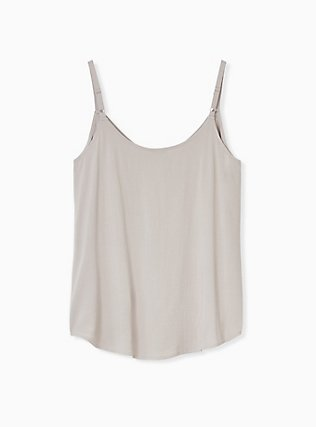 Essential Stretch Woven Taupe Cami, ATMOSPHERE, alternate