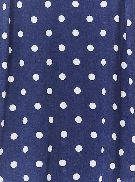 Ava - Navy Polka Dot Stretch Woven Cami, POLKA DOT BLUE, alternate