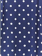 Essential Navy Polka Dot Stretch Woven Cami, POLKA DOT BLUE, alternate