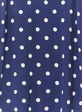 Plus Size Essential Navy Polka Dot Stretch Woven Cami, POLKA DOT BLUE, alternate