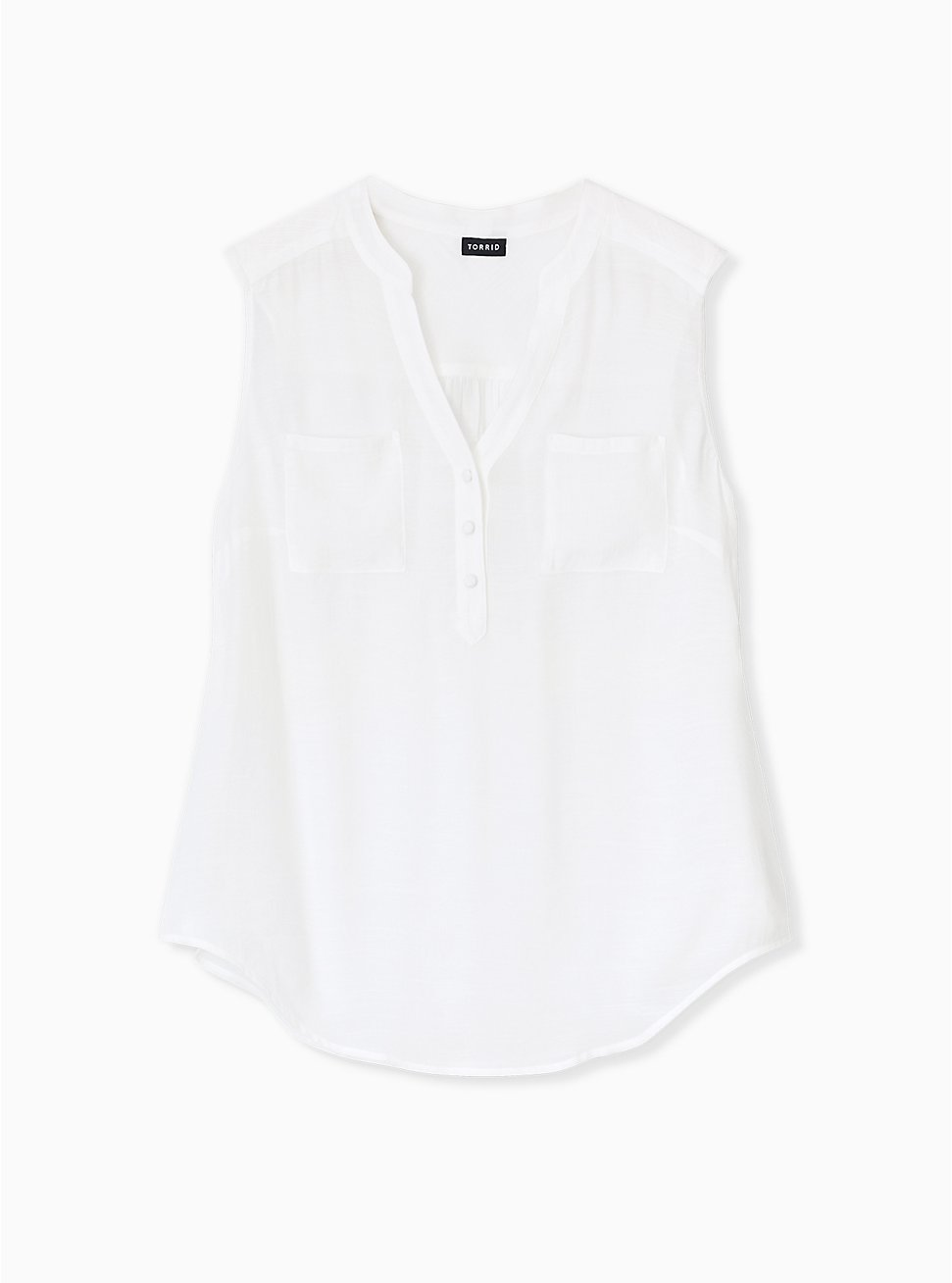 Harper- White Challis Pullover Tank, CLOUD DANCER, hi-res