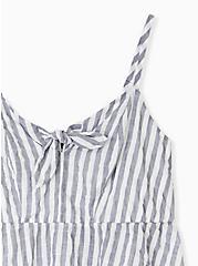 Navy Stripe Tie Front Midi Peplum Cami, STRIPE - MULTI, alternate