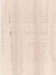Pale Pink Lace Cold Shoulder Top, ROSE DUST, alternate