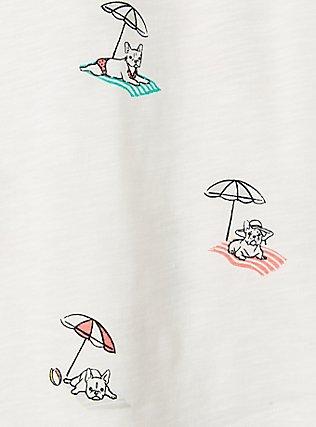 Classic Fit Pocket Tee - Heritage Slub Beach Frenchies White, , alternate