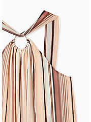 Multi Stripe Mesh O-Ring Halter Tank, STRIPE MIX, alternate