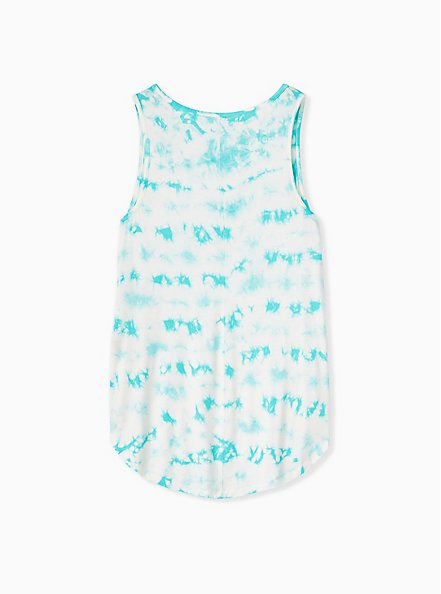 Super Soft Turquoise Tie-Dye Favorite Tunic Tank , OTHER PRINTS, alternate