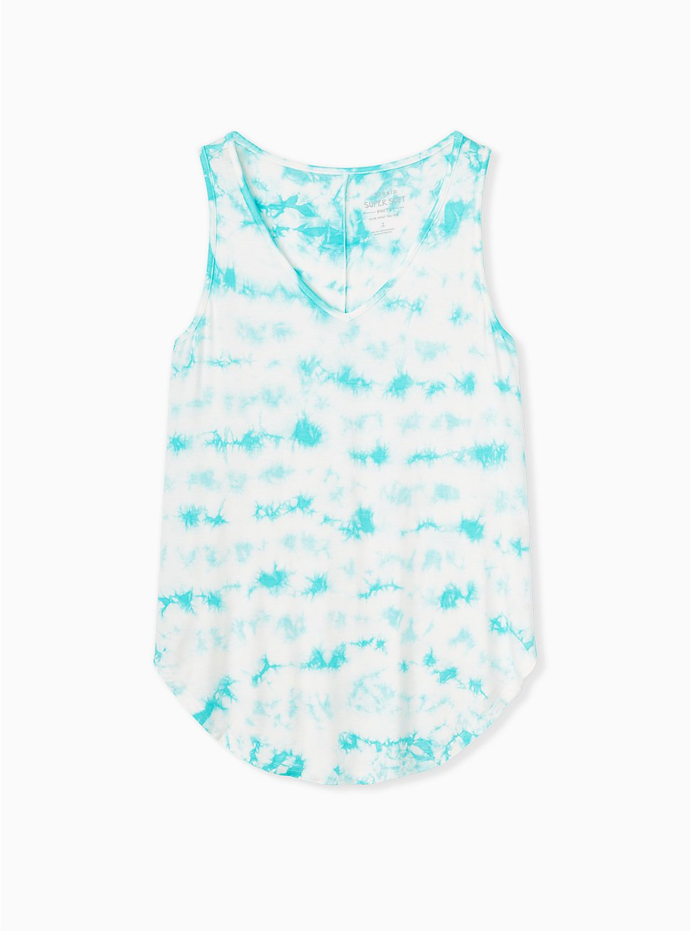 Super Soft Turquoise Tie-Dye Favorite Tunic Tank , OTHER PRINTS, hi-res