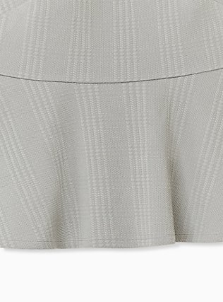 Sage Green Textured Ponte Off-Shoulder Peplum Top, MOON MIST, alternate