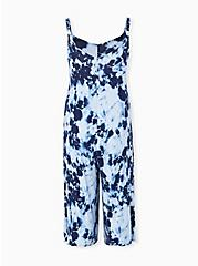 Super Soft Navy Tie-Dye Culotte Jumpsuit, TIE DYE-BLUE, alternate