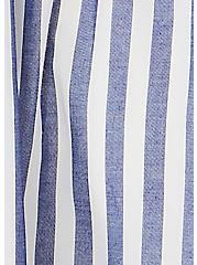 Blue Stripe Challis Smocked Shirred Hem Skater Dress, STRIPE - BLUE, alternate